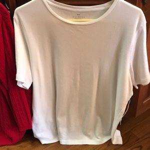 2 Talbots T-Shirts 1x White & Dark Navy